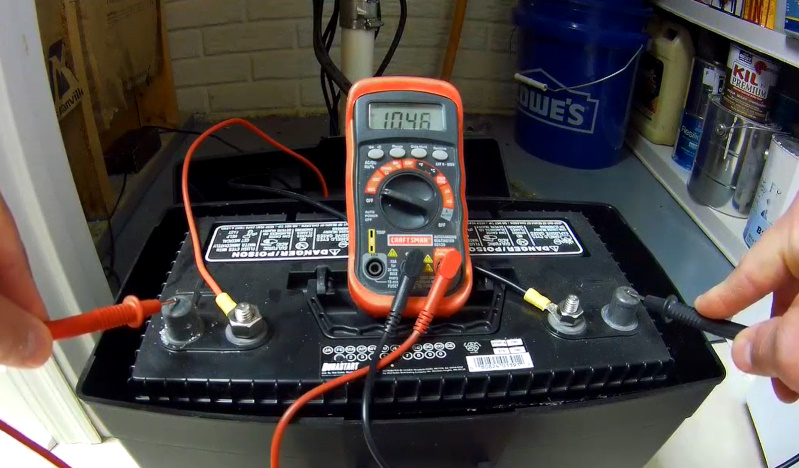 Checking battery voltage
