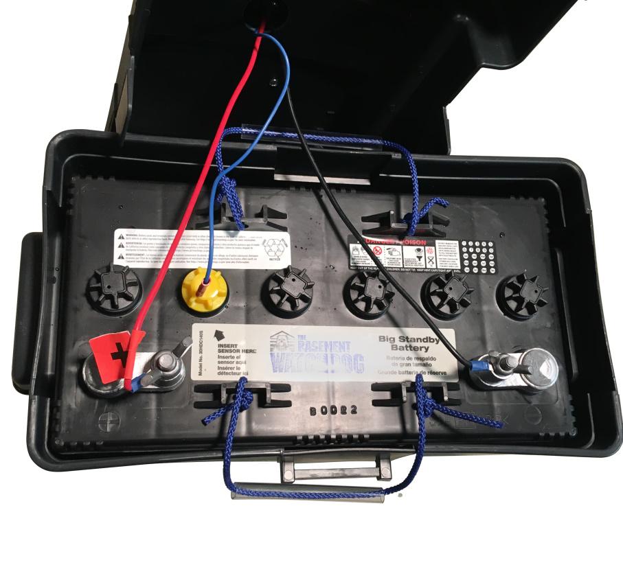 Basement Watchdog backup sump pump battery